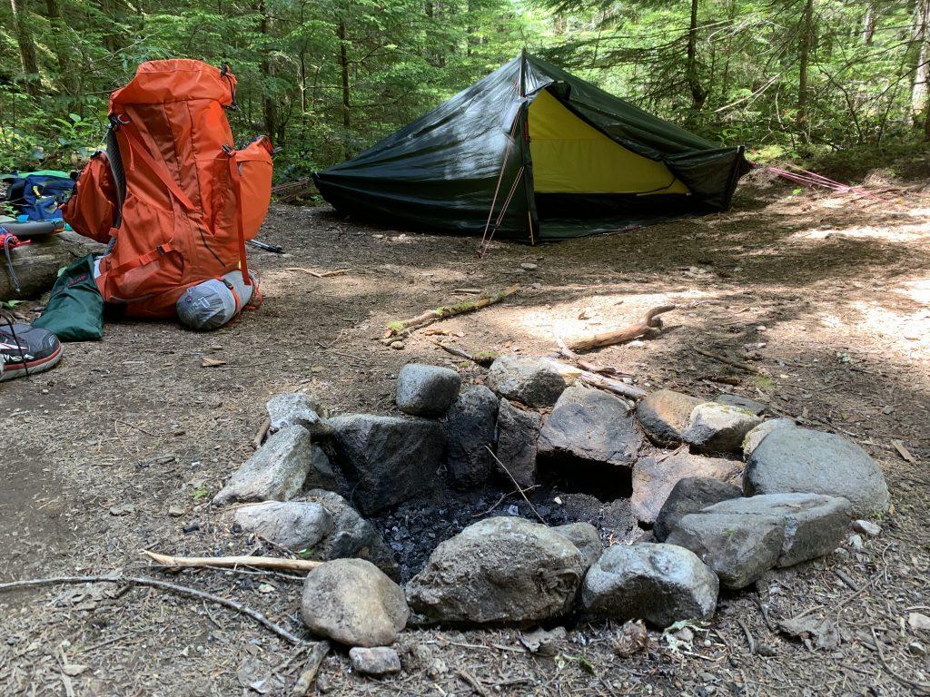 Neve backcountry campsite